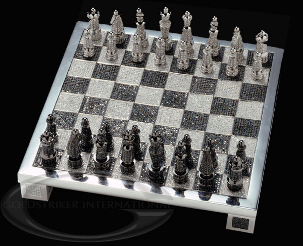 Come get your Chess set made from real diamonds! Only $100k!