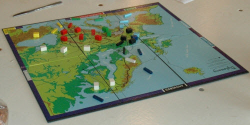 Diplomacy: moving little wooden blocks around a board since 1957.