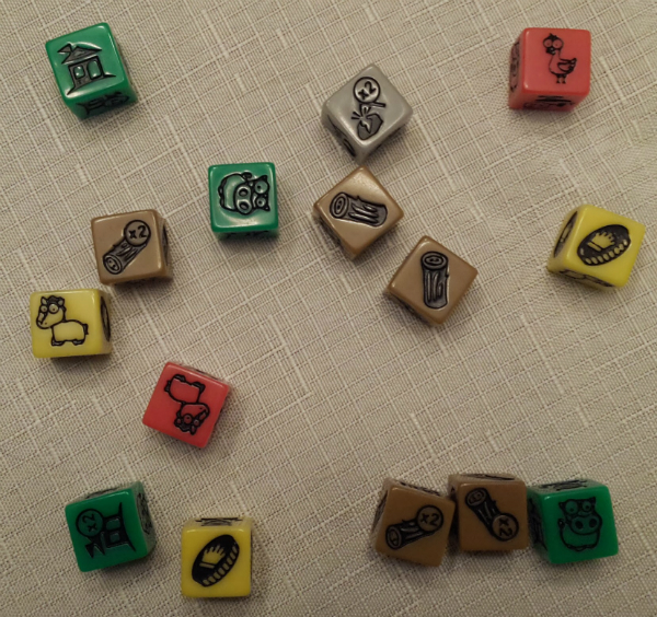 A typical dice pool.