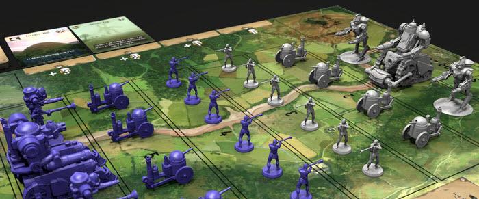 A stock battlefield layout. Prototype Shown