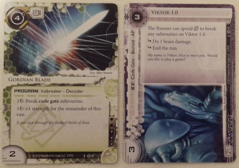 The code gate Icebreaker must pay 1 credit to face Viktor, and then must at least break its second effect to pass.