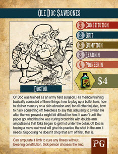 A character card. Prototype Shown