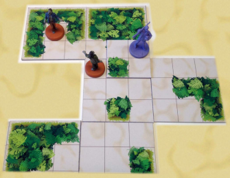 The player can reveal a new tile adjacent to them, or wait around to become zombie chow.