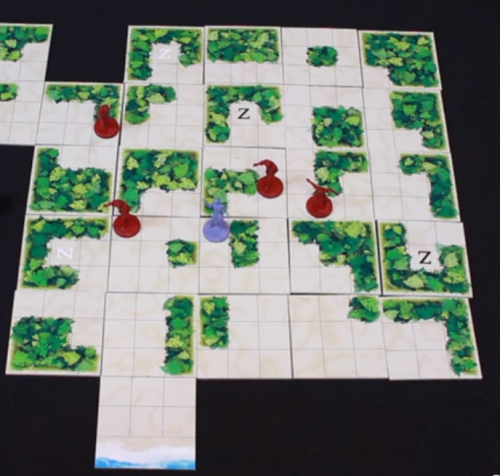 A fully revealed island map.  Prototype Shown