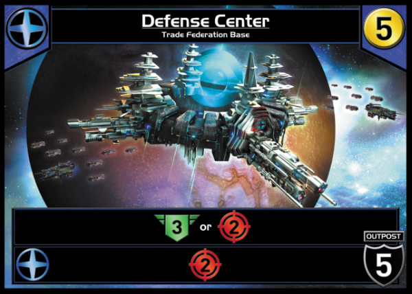 This Outpost has a Defense of 5 and also