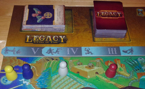 Yellow and Blue in the oldest Timeframe. It's a dash to the past in Legacy.
