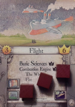 After playing it, Red has 3 Influence on Flight.
