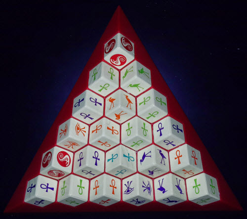 The base of the pyramid for endgame scoring.