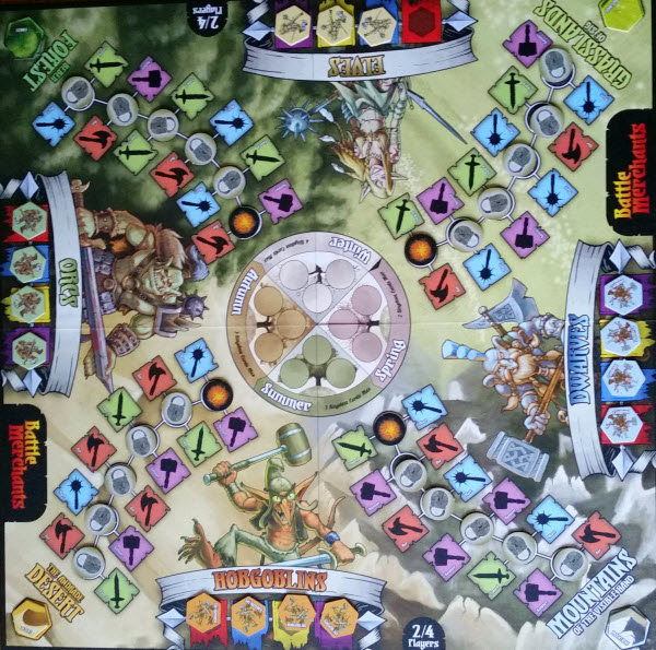 The game board before hostilities.