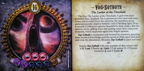 On Left: The front of Nyarlathotep. On Right: the back of Yog-Sothoth