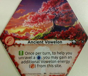 "Or, ""This counts as 2 [Red] for Unraveling. Use only once each turn."""