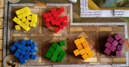Fresco paints, like the game: quite colorful.