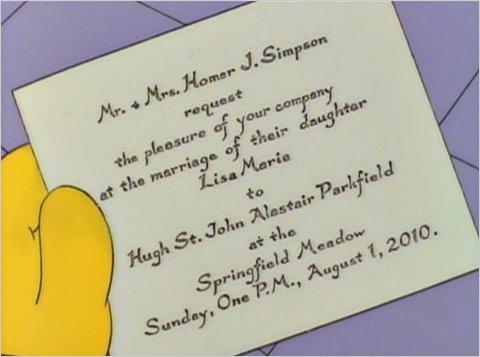 simpsons-wedding invite