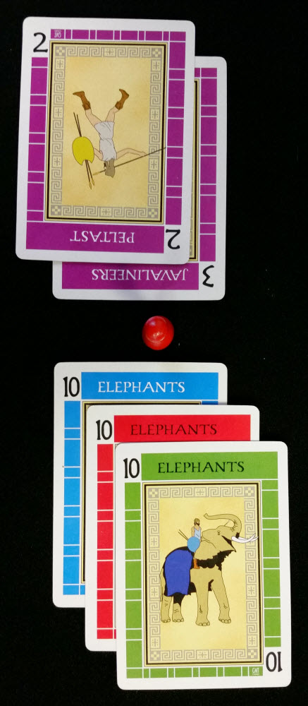Only a purple 1 or 4 can beat these elephants.