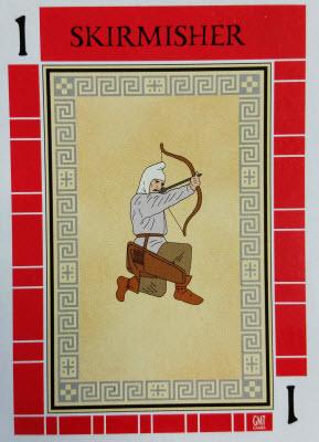 A red Troop card.