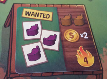 A Market card asking for three purple peppers.
