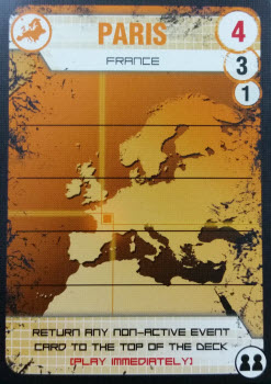 A yellow (European) City card