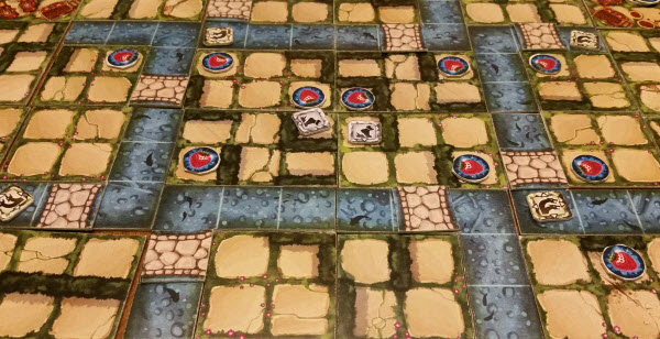 The Raider team gobbling up center strawberries on a 4-player map. Prototype Shown