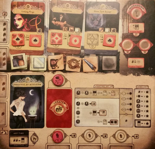 A Player Board in action. Prototype shown