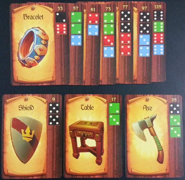 A typical Craft card layout