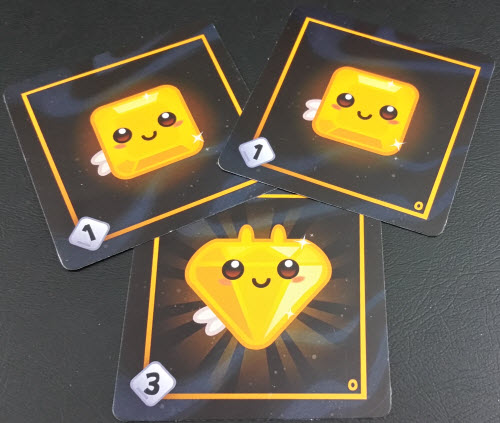 Two Yellow Squares become a Diamond. With wings! Prototype Shown