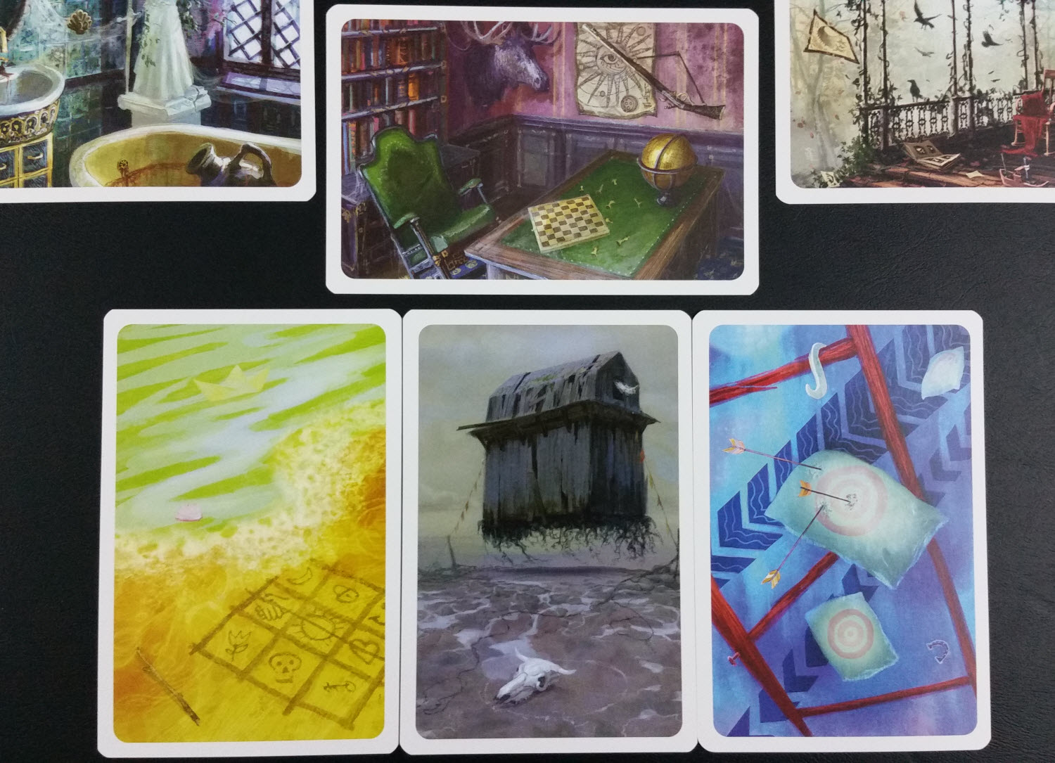 The Spirit used these three cards for this Location. Will players make the same connections?