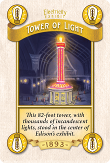 Edison's Tower of Light - supposedly so bright it mimicked sunlight Prototype Shown