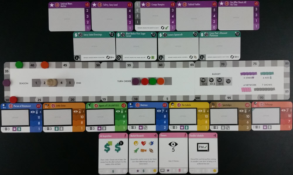 A 4-player layout. Prototype Shown