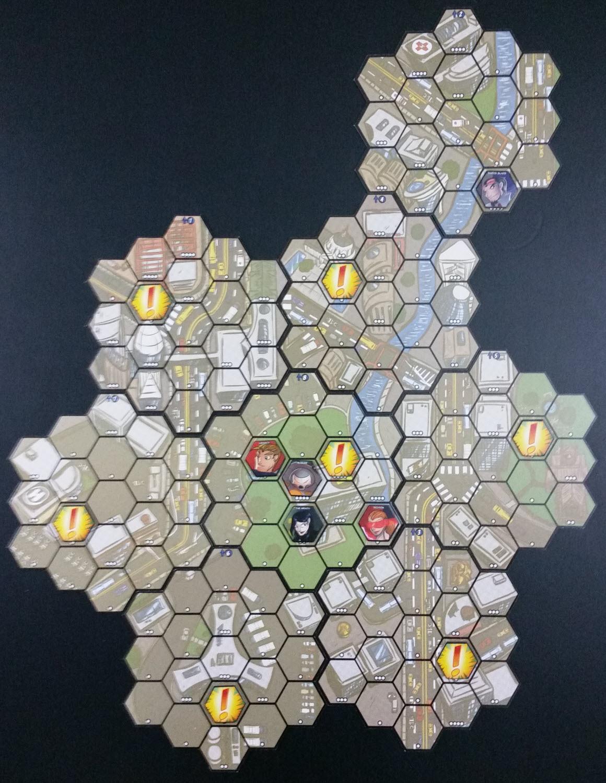 Scenario 1 map setup