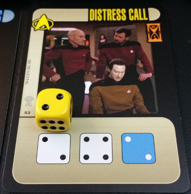 Captain, if I may suggest adding the blue die here? It is the only viable option.