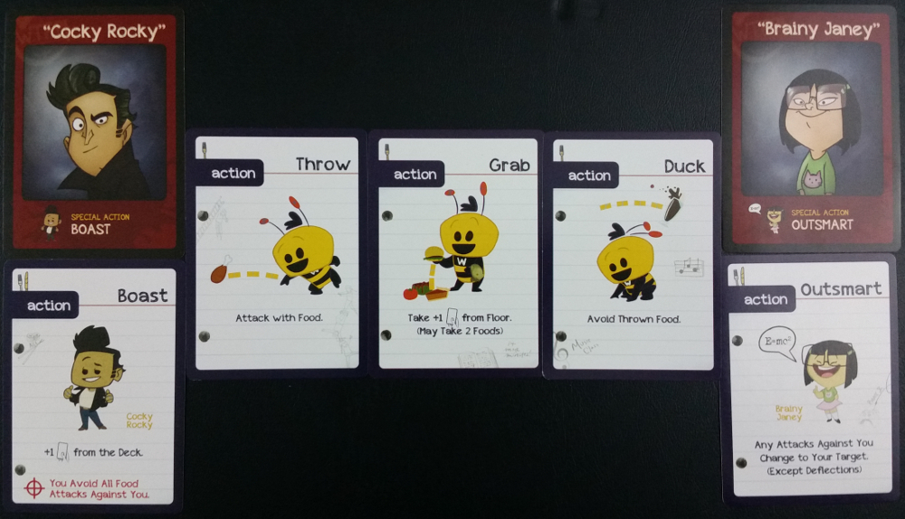What The Food character and action cards