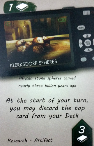 An Artifact card