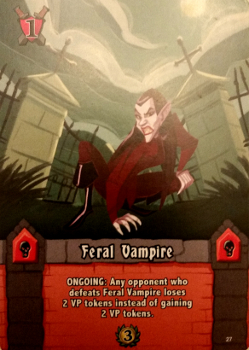 A typical Monster card Prototype Shown
