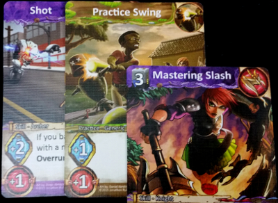 Having 3 Energy, the player was able to play Mastering Slash