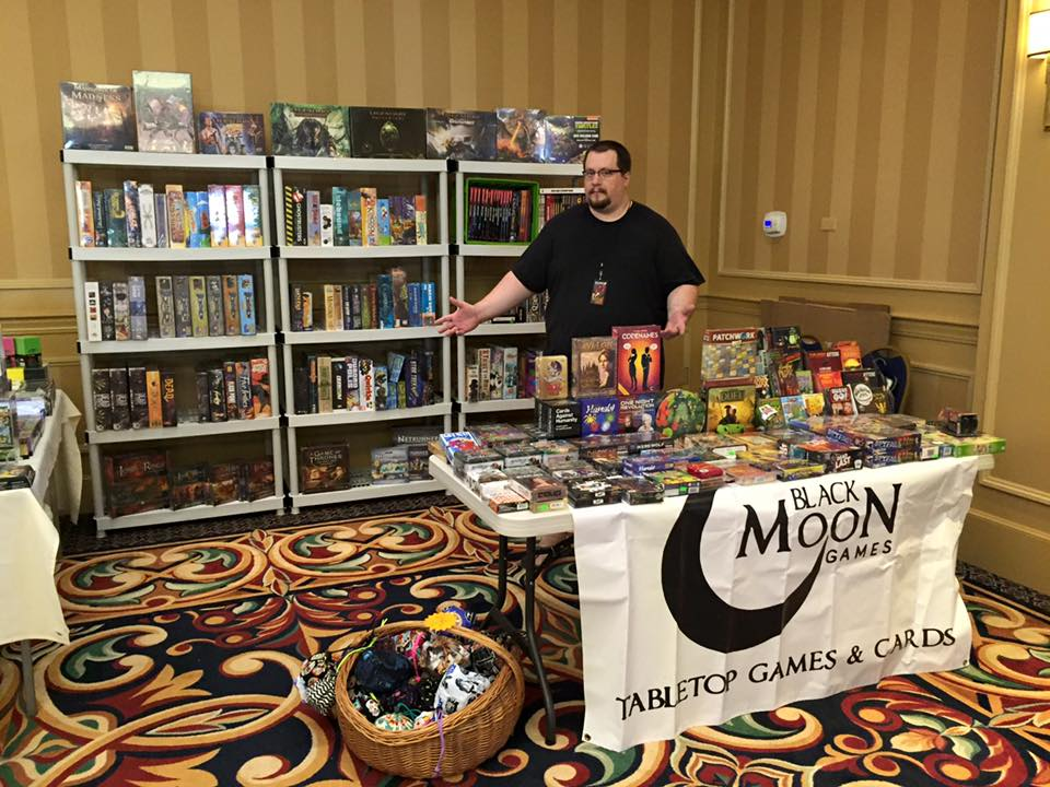 A typical BMG convention setup. Come on in!