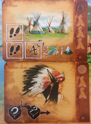 A pair of possible American Indian cards that can be acquired