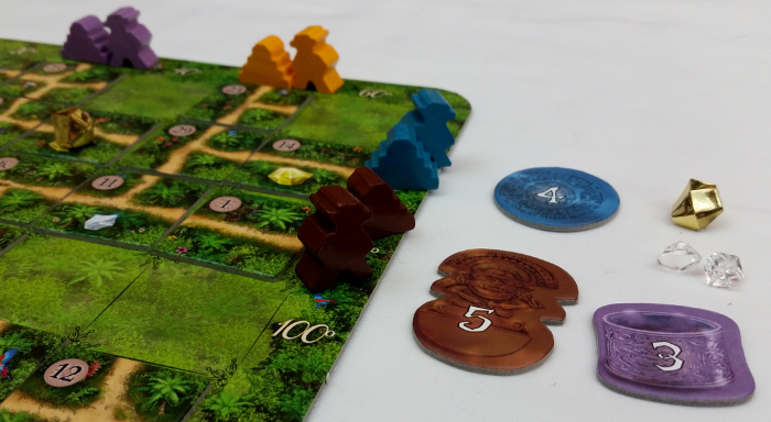 Between temples and gems, this player ends the game with 16 points.