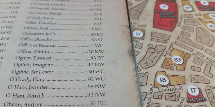 Thanks to the handy directory, we found Emmet Ogden lives at 83 EC (East Central district)
